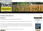 Fence Dimensions | Courteous – Friendly – Knowledgeable – Fence Sales & Service